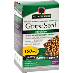 HGR0124446 - Nature's AnswerGrape Seed Extract - 60 Vegetarian Capsules