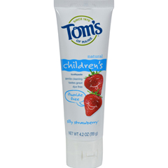 HGR0127209 - Tom's of MaineChildrens Natural Toothpaste Fluoride-Free Silly Strawberry - 4.2 oz - Case of 6