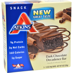HGR0198531 - AtkinsAdvantage Bar Dark Chocolate Decadence - 5 Bars