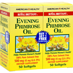 HGR0339986 - American HealthRoyal Brittany Evening Primrose Oil Twin Pack - 500 mg - 50+50 Softgels