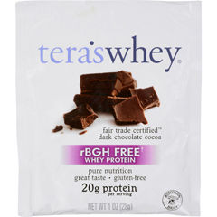 HGR0404434 - Tera's WheyProtein Powder - Whey - Fair Trade Certified Dark Chocolate Cocoa - 1 oz - Case of 12