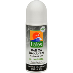 HGR0420653 - Lafe's Natural Body CareOrganic Roll On Deodorant Unscented - 2.5 fl oz