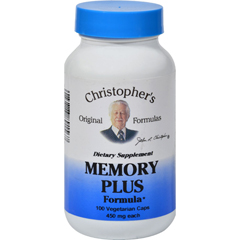 HGR0611897 - Dr. Christopher'sOriginal Formulas Memory Plus Formula - 450 mg -100 Caps