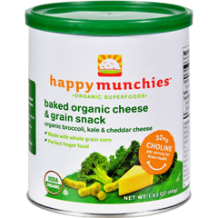 HGR0641738 - Happy BabyHappy Munchies Baked Organic Snacks - Cheese and Veggie - Case of 6 - 1.63 oz