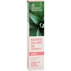 HGR0654525 - Desert EssenceNatural Tea Tree Oil Toothpaste Ginger - 6.25 oz