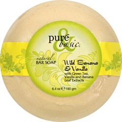 HGR0688432 - Pure and BasicBar Soap - Wild Banana Vanilla - Case of 6 - 6.4 oz