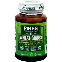 HGR0720029 - Pines InternationalOrganic Wheat Grass - 500 mg - 100 Tablets