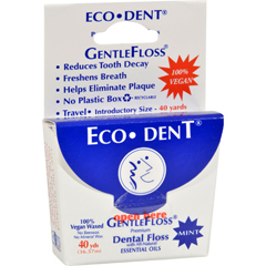 HGR0725838 - Eco-DentGentle Floss - Mint 40 - Case of 6 - 40 Yds