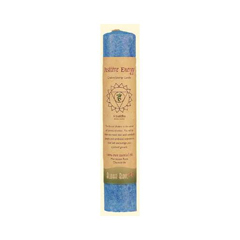 HGR0743476 - Aloha BayChakra Pillar Candle, Blue - Positive Energy