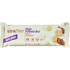 HGR0753418 - Think ProductsThin Bar - White Chocolate - Case of 10 - 2.1 oz