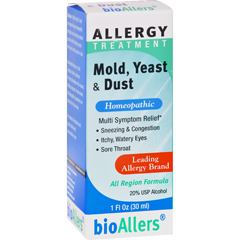 HGR0777300 - Bio-AllersAllergy Treatment Mold Yeast and Dust - 1 fl oz