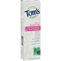 HGR0778142 - Tom's of MaineAntiplaque and Whitening Toothpaste Peppermint - 5.5 oz - Case of 6
