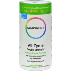 HGR0818005 - Rainbow LightAll-Zyme Double Strength - 120 + 60 Free Vegetarian Capsules