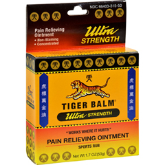 HGR0867424 - Tiger BalmPain Relieving Ointment Ultra Strength - Non-Staining - 1.7 oz