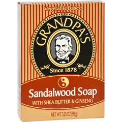 HGR0917716 - Grandpa'sSandalwood Bar Soap with Shea Butter and Ginseng - 3.25 oz