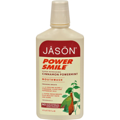 HGR0954537 - Jason Natural ProductsPowerSmile Mouthwash Cinnamon Mint - 16 fl oz