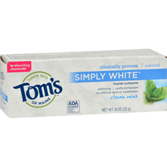 HGR1031483 - Tom's of MaineToothpaste - Clean Mint Simply White Trial Size - .9 oz - Case of 12
