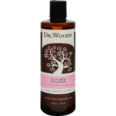 HGR1053032 - Dr. WoodsNaturals Castile Liquid Soap - Rose - 16 fl oz