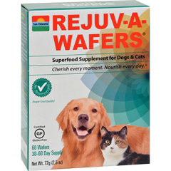 HGR1126283 - Sun ChlorellaRejuv-A-Wafers Superfood Supplement for Dogs and Cats - 60 Wafers