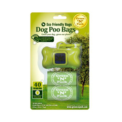 HGR1130715 - Green-n-PackDog Poo Bags and Dispenser - 40 Pack