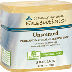 HGR1170448 - Clearly NaturalBar Soap - Unscented - 3 Pack - 4 oz