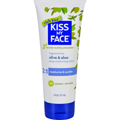 HGR1182070 - Kiss My FaceMoisturizer - Olive and Aloe - 6 oz - Fragrance Free