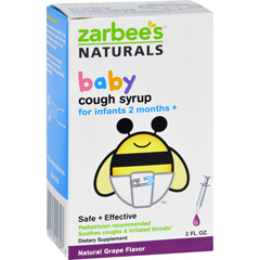 HGR1272319 - Zarbee'sNaturals Baby Cough Syrup - Grape - 2 oz