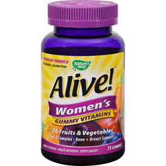 HGR1283332 - Nature's WayAlive - Womens Energy Gummy Multi-Vitamins - 75 Chewables