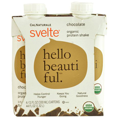 HGR1500164 - SvelteProtein Shake - Organic - Chocolate - 11 fl oz - Case of 24