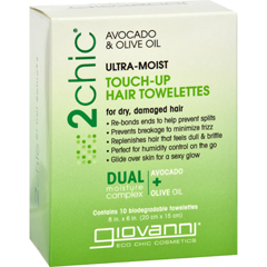 HGR1520733 - Giovanni Hair Care ProductsTouch Up Hair Towelette - 2Chic Ultra Moist - 10 ct