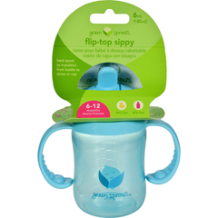 HGR1528942 - Green SproutsSippy Cup - Flip Top Aqua - 1 ct