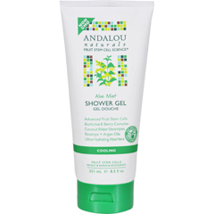 HGR1599661 - Andalou NaturalsShower Gel - Aloe Mint Cooling - 8.5 fl oz