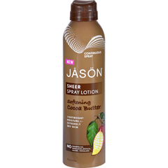 HGR1637883 - Jason Natural ProductsSpray Lotion - Sheer - Softening Cocoa Butter - 6 oz