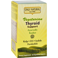 HGR1642974 - Only NaturalThyroid Support - Vegetarian - 60 Vegetarian Capsules