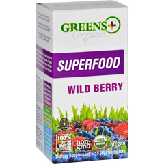 HGR1688423 - Greens PlusSuperfood - Organic - Wild Berry - 8 g - 15 Stickpacks