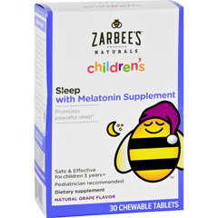 HGR1689868 - Zarbee'sChildrens Sleep - Grape Flavor - 30 Chewables