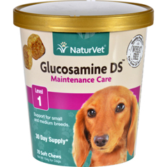 HGR1694678 - NaturvetNaturVet Glucosamine - DS - Level 1 - Dogs and Cats - Cup - 70 Soft Chews
