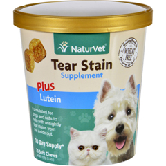 HGR1694793 - NaturvetNaturVet Tear Stain - Plus Lutein - Dogs and Cats - Cup - 70 Soft Chews