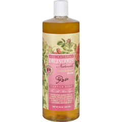 HGR1703958 - Dr. Jacobs NaturalsLiquid Soap - Castile - Rose - 32 oz