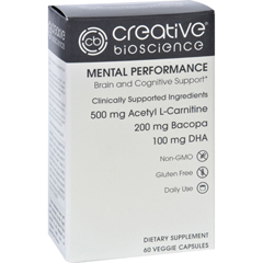 HGR1726173 - Creative BioscienceMental Performance - 60 Vegetarian Capsules