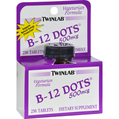 HGR0543025 - TwinlabB-12 Sublingual Dots - 500 mcg - 250 Tablets
