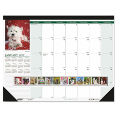 HOD199 - House of Doolittle™ Earthscapes™ 100% Recycled Puppies Monthly Desk Pad Calendar