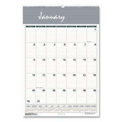 HOD333 - House of Doolittle™ Bar Harbor 100% Recycled Wirebound Monthly Wall Calendar