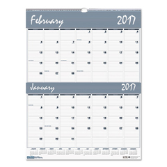 HOD337 - House of Doolittle™ Bar Harbor 100% Recycled Two-Months-per-Page Wirebound Wall Calendar
