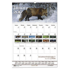 HOD373 - House of Doolittle™ Earthscapes™ 100% Recycled Wildlife Monthly Wall Calendar