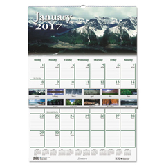 HOD374 - House of Doolittle™ Earthscapes™ 100% Recycled Scenic Beauty Monthly Wall Calendar
