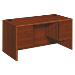 HON10771CO - HON® 10700 Series™ Double Pedestal Desk with Three-Quarter Height Pedestals