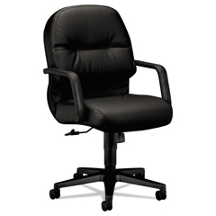 HON2092SR11T - HON® Pillow-Soft® 2090 Series Leather Managerial Mid-Back Swivel/Tilt Chair