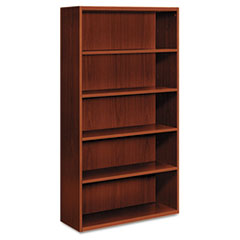 HONVW612XJJ - HON® Arrive™ Wood Veneer Series Five-Shelf Bookcase