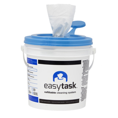 HSCN-ETHCBW - HospecoEasyTask™ Refillable Cleaning System, Rayon/Poly